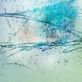 Wieloskładnikowa valuesCement ściana z ampuła narysami na tynku Obrazy Royalty Free