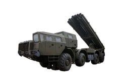 Wieloskładnikowa wyrzutnia rakietowa w Nastroszonej pozyci zdjęcia stock