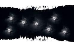 Wieloskładnikowe abstrahujące księżyc ilustracja wektor