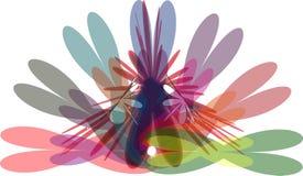 Wieloskładnikowego colour abstrakcjonistyczny nowożytny tło ilustracji
