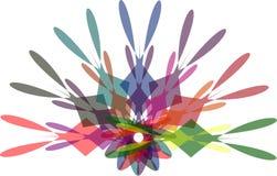 Wieloskładnikowego colour abstrakcjonistyczny nowożytny tło ilustracja wektor