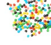 Wieloskładnikowi balowi cukierki rozlewający nad powierzchnią Zdjęcie Royalty Free