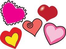 Wieloskładnikowi miłość kształty Obrazy Royalty Free