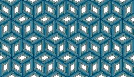 Wielostrzałowi Błękitni sześciany - Tileable tło Zdjęcia Royalty Free