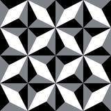 Wielostrzałowi geometryczni wzory Czarna & Biała dekoracyjna tekstura Obrazy Royalty Free