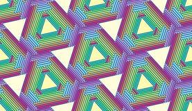 Wielostrzałowi tęcza trójboki - Tileable tło Obraz Royalty Free