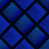 Wielostrzałowy abstrakcjonistyczny błękita wzór - bezszwowy wektoru wzór z geometryczną teksturą która przypomina tkaninę ilustracji