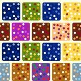 Wielostrzałowy bezszwowy wzór barwioni kwadraty wektor Zdjęcia Stock