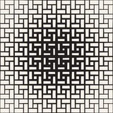 Wielostrzałowy prostokąta Halftone Nowożytna Geometryczna kratownicy tekstura Wektorowy bezszwowy monochromu wzór royalty ilustracja