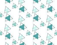 Wielostrzałowy wzór zieleni trójboki na białym tle ilustracja wektor