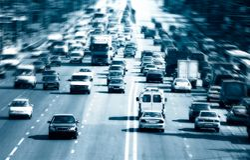 wielu autostrad samochód Zdjęcia Stock