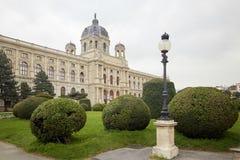 Wien, Österreich - 15. April 2018: Maria Theresa Square Das Kunsthistorisches-Museum Lizenzfreie Stockbilder