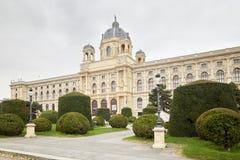 Wien, Österreich - 15. April 2018: Maria Theresa Square Das Kunsthistorisches-Museum Lizenzfreies Stockfoto