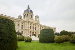 Wien, Österreich - 15. April 2018: Maria Theresa Square Das Kunsthistorisches-Museum Lizenzfreie Stockfotografie
