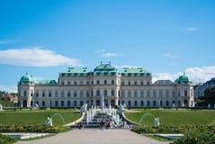 WIEN, ÖSTERREICH - 29. JULI 2016: Eine Ansicht von Palast Belvedere in Wien Österreich Lizenzfreie Stockbilder