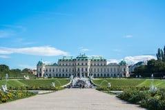 WIEN, ÖSTERREICH - 29. JULI 2016: Eine Ansicht von Palast Belvedere in Wien Stockfotos