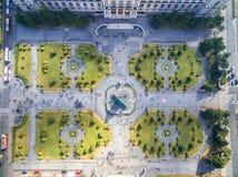 WIEN, ÖSTERREICH - 7. OKTOBER 2016: Naturhistorisches Museum und Maria Theresien Platz Großer öffentlicher Platz in Wien, Österre lizenzfreies stockfoto