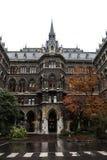 Wien, Österreich, September, 14, 2019 - nFacade des inneren Hofes von Rathaus, das Gebäude wo die Wien-Stadt lizenzfreie stockfotos