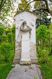 WIEN ÖSTERRIKE - APRIL 23, 2016: Grav av kompositören Brahms arkivbilder