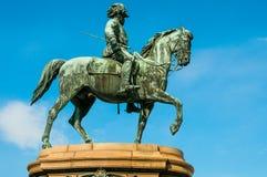 WIEN ÖSTERRIKE - APRIL 24, 2016: Staty av kejsaren Franz Joseph I Fotografering för Bildbyråer