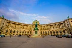 Wien Österrike - 11 Augusti, 2015: Inre ekonomiklassplaceringområde på drevet, flotta bekväma inre Hofburg Royaltyfri Fotografi