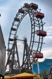 WIEN ÖSTERRIKE - AUGUSTI 17, 2012: Sikt av Prater jätte- hjul e Royaltyfria Foton