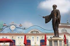 WIEN ÖSTERRIKE - AUGUSTI 17, 2012: Sikt av statyn inom enen Arkivfoton
