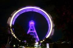 Wien Österrike Ferris Wheel Icon arkivbild