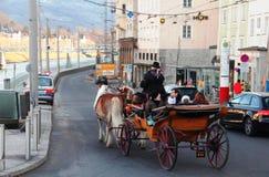Wien Österrike hästridning Royaltyfria Bilder