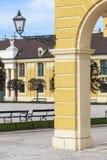 WIEN ÖSTERRIKE - JUNI 17: Schonbrunn slott på Juni 17, 2016 in Arkivbild