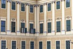 WIEN ÖSTERRIKE - JUNI 17: Schonbrunn slott på Juni 17, 2016 in Royaltyfria Foton