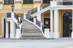 WIEN ÖSTERRIKE - JUNI 17: Schonbrunn slott på Juni 17, 2016 in Royaltyfri Fotografi