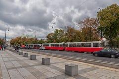 WIEN ÖSTERRIKE - OKTOBER 10, 2016: Wien kollektivtrafik Arkivfoton