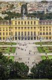 Wien Österrike, September, 15, 2019 - Schonbrunn slott, en tidigare imperialistisk sommaruppehåll av Habsburg monarker arkivfoton