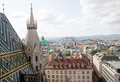 Wien, aerial view Stock Photos