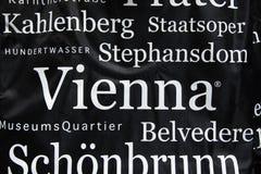 Wien-Andenkenhintergrund Stockbild