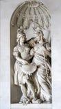 WIEN AUSTRIA/EUROPE - SEPTEMBER 22: Skulptur av två kvinnor a Arkivfoto