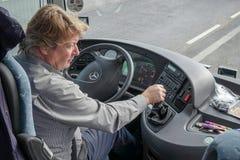 WIEN, AUSTRIA/EUROPE - 22. SEPTEMBER: Trainerfahrer, der herein arbeitet Lizenzfreie Stockbilder