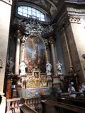 Wien, Austria-29 07 2018: Innenraum von St. Peter Peterskirche Church, barocke r?misch-katholische Gemeinde Kirche in Wien, ?ster stockfotos