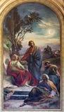 WIEN: Bön av Jesus i den Gethsemane trädgården av Franz Josef Dobiaschofsky från 19 cent cent 19 Arkivfoto