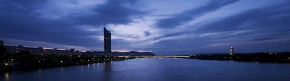 Wien bei Sonnenuntergang lizenzfreies stockbild