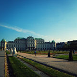 Wien. Belvedere Gallery and garden in Vienna. Stock Image