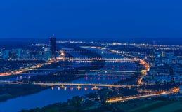 Wien bis zum Nacht Stockfotos