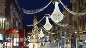 Wien bis zum Nacht Lizenzfreie Stockfotografie