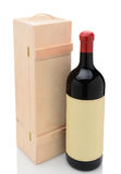 Wien Bottle and Wood Box Royalty Free Stock Image