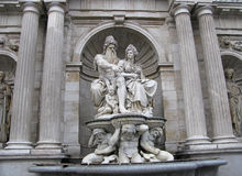 Wien, Brunnen Allegorie der Donaus Lizenzfreies Stockbild