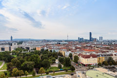 Wien. Cityscape, a view from Prater Royalty Free Stock Photography