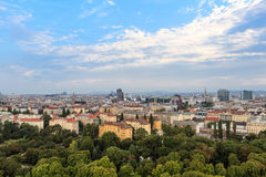 Wien. Cityscape, a view from Prater Stock Image