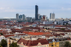 Wien. Cityscape, a view from Prater Royalty Free Stock Photo