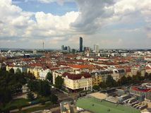Wien cityscape. A view from Prater Stock Photo